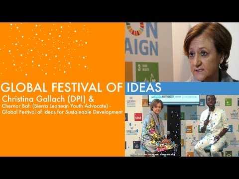 Festival of Ideas:  Cristina Gallach Interview with Chernor Bah