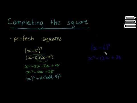 Leaving Cert Maths - Algebra 36 - Completing the Square