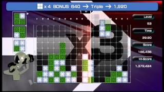 Lumines Live! Advance Pack gameplay
