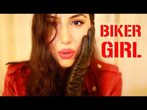 ASMR BIKER CHICK Fixing You RP ~ Binaural ~ Personal Attention & Leather Sounds