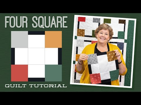 "Make A ""Four Square"" Quilt With Jenny Doan Of Missouri Star Quilt Co (Video Tutorial)"