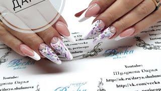 нежный летний легкий дизайн ногтей