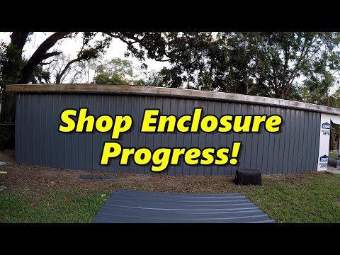 SNS 187: Shop Enclosure Build Continues