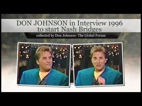 DON JOHNSON 1996    Nash Bridges starts in TV @ Late