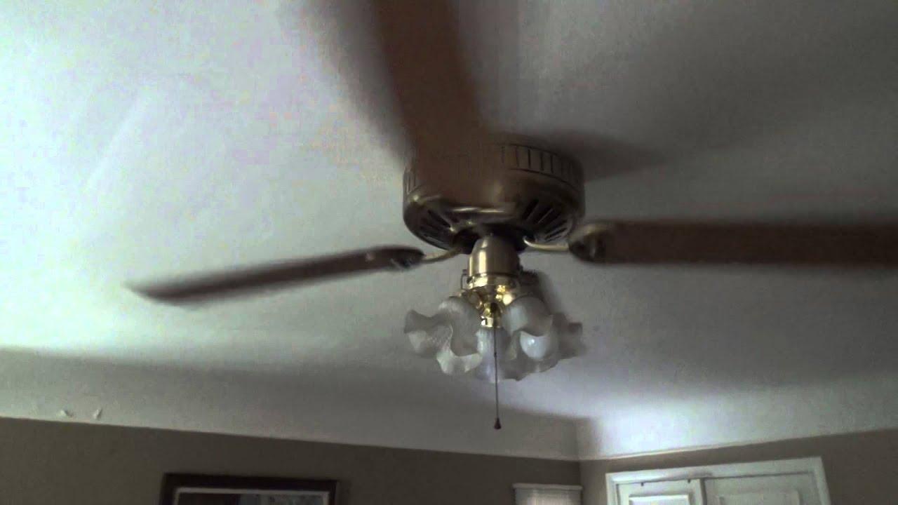 1993 52 inch. Hunter Low Profile ceiling fan - YouTube