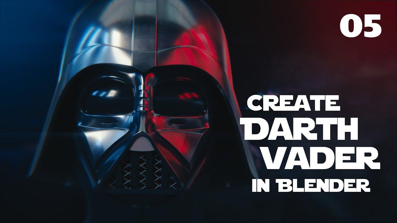 Blender Tutorial Star Wars Darth Vader Helmet 05 Youtube