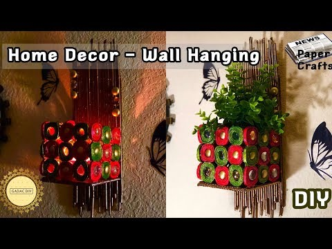 Newspaper / Magazine Wall Hanging | diy paper crafts easy| Best out of waste | Newspaper Craft Ideas