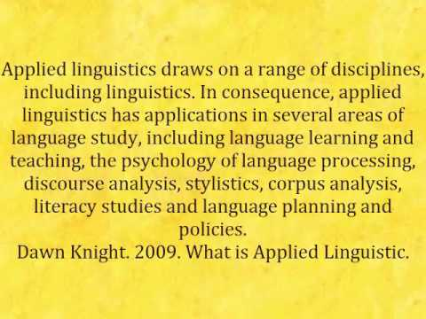 Applied linguistic
