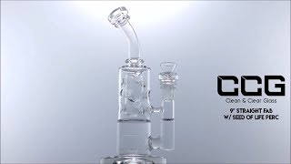 """CCG 9"""" Straight Fab w/ Seed of Life Perc"""
