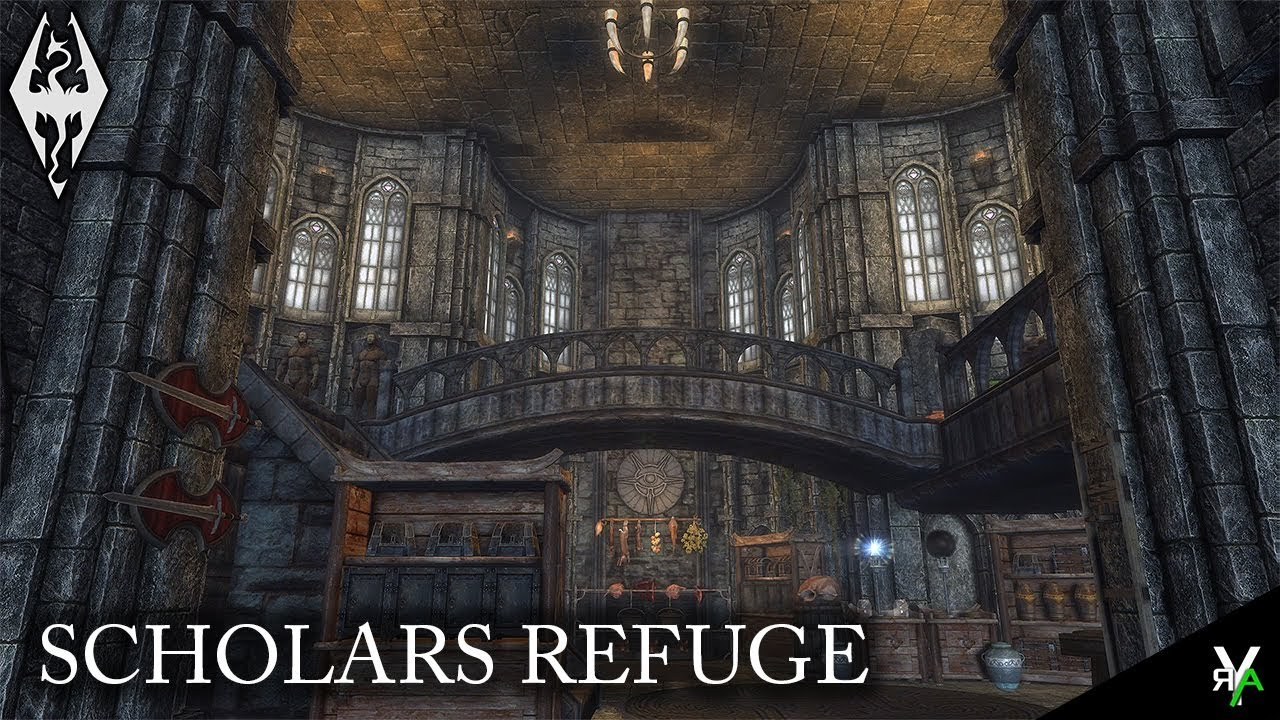 SCHOLARS REFUGE: Mage Player Home!!- Xbox Modded Skyrim Mod Showcase