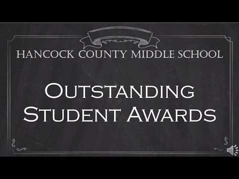 Hancock County Middle School Awards 2020