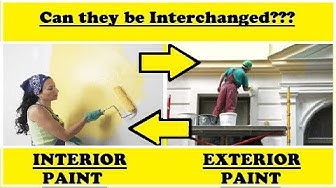 Difference between Interior Paint and Exterior Paint