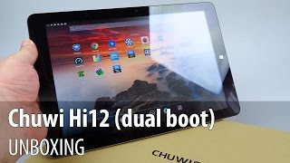 Chuwi Hi12 Unboxing (12 inch tablet with dual booting Windows and Android) - Tablet-News.com