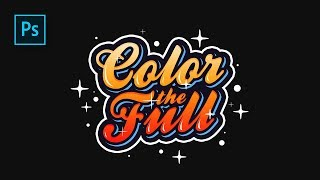 How to Create Colorful Text Effect in Photoshop - Typography lettering #Photoshop Tutorials