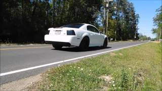 2001 mustang gt 2v longtubes or x pipe and slp lm1 flybys takeoffs and more