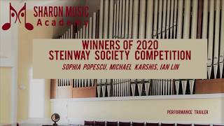Students of the Sharon Music Academy Winners of 2020 Steinway Society Competition