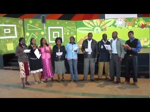World Hope Academy Teachers sing a hymn song to guests during closing and awards ceremony