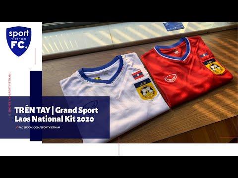 TRÊN TAY   ÁO ĐỘI TUYỂN LÀO  GRAND SPORT   LAOS NATIONAL TEAM KIT 2020