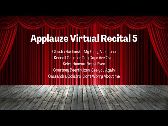 Applauze Virtual Recital 5