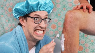 The Try Guys Shave Their Legs For The First Time