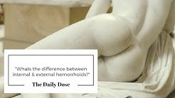What's the difference between internal & external hemorrhoids?