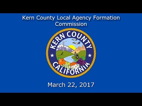 Kern County LAFCo meeting for March 22, 2017