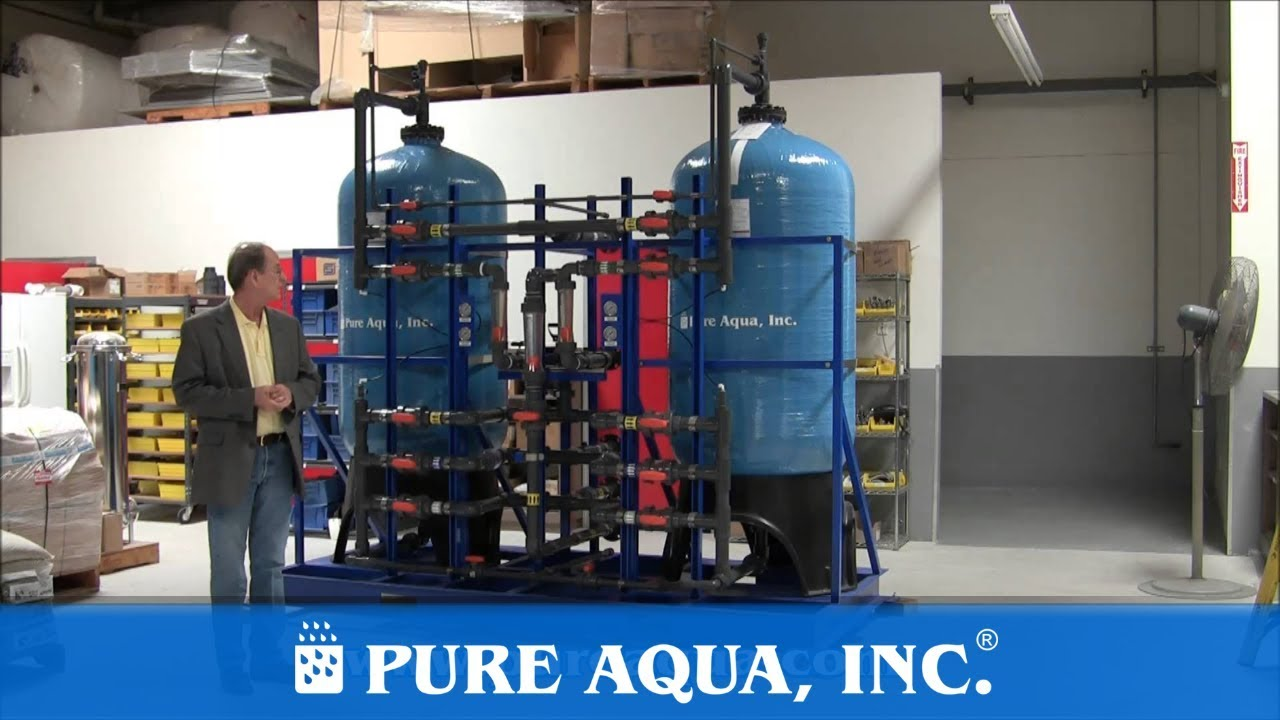Twin Multimedia Seawater Filtration System CA USA 144 000 GPD