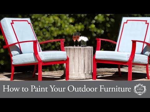 How to Paint Your Outdoor Furniture