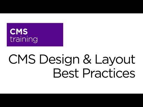 CMS Design & Layout Best Practices
