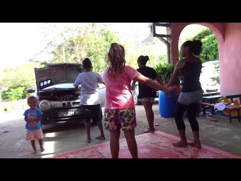 Girls dancing in New Caledonia