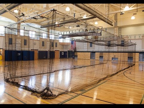 On Deck Sports: Retractable Ceiling Batting Cages For Gyms U0026 Indoor Sports  Facilities
