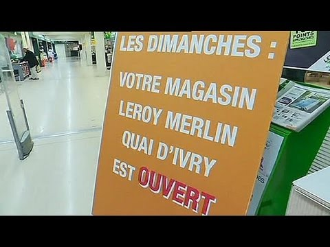 France retail giants defy Sunday trading ban and open for business