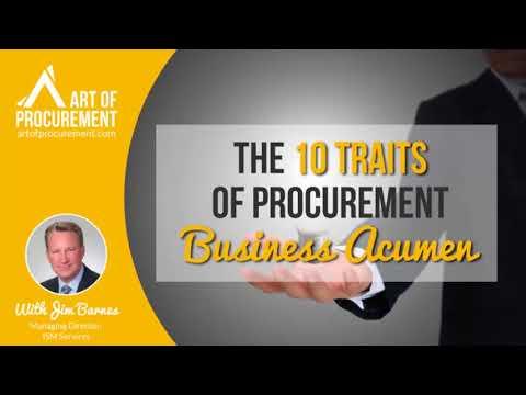 The 10 Traits of Procurement Business Acumen, w/ Jim Barnes