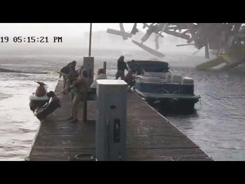 WATCH: Kentucky marina get toppled by tornado