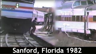 ORIGINAL AUTOTRAIN CARS IN SANFORD, FL 1982 BEFORE AMTRAK