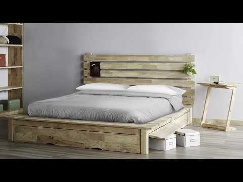 Zen platform wooden bed frame 禅式排板大床