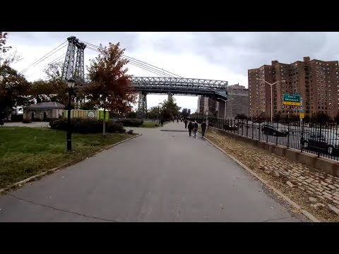 ⁴ᴷ⁶⁰ Cycling to East River Park, Manhattan, NYC from Long Island City, Queens