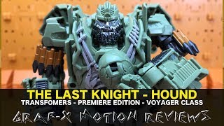 Transformers The Last Knight - Premiere Edition - Autobot Hound Review with Soundwave Says skit!