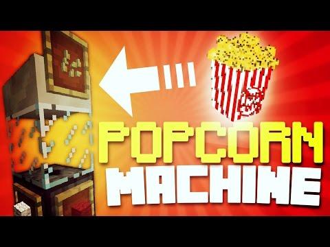 ✔️MINECRAFT PE - POPCORN MACHINE! [REDSTONE] // Working POPCORN maker! [MCPE]