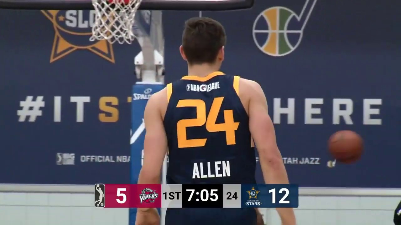 best service 7d121 3d48a Utah Jazz Assignee Grayson Allen Drops 26 PTS In NBA G League Debut