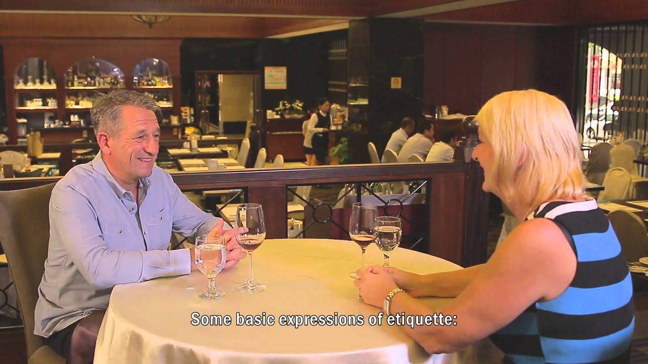【英文版】 5─10 國際禮儀篇:餐廳篇 - YouTube