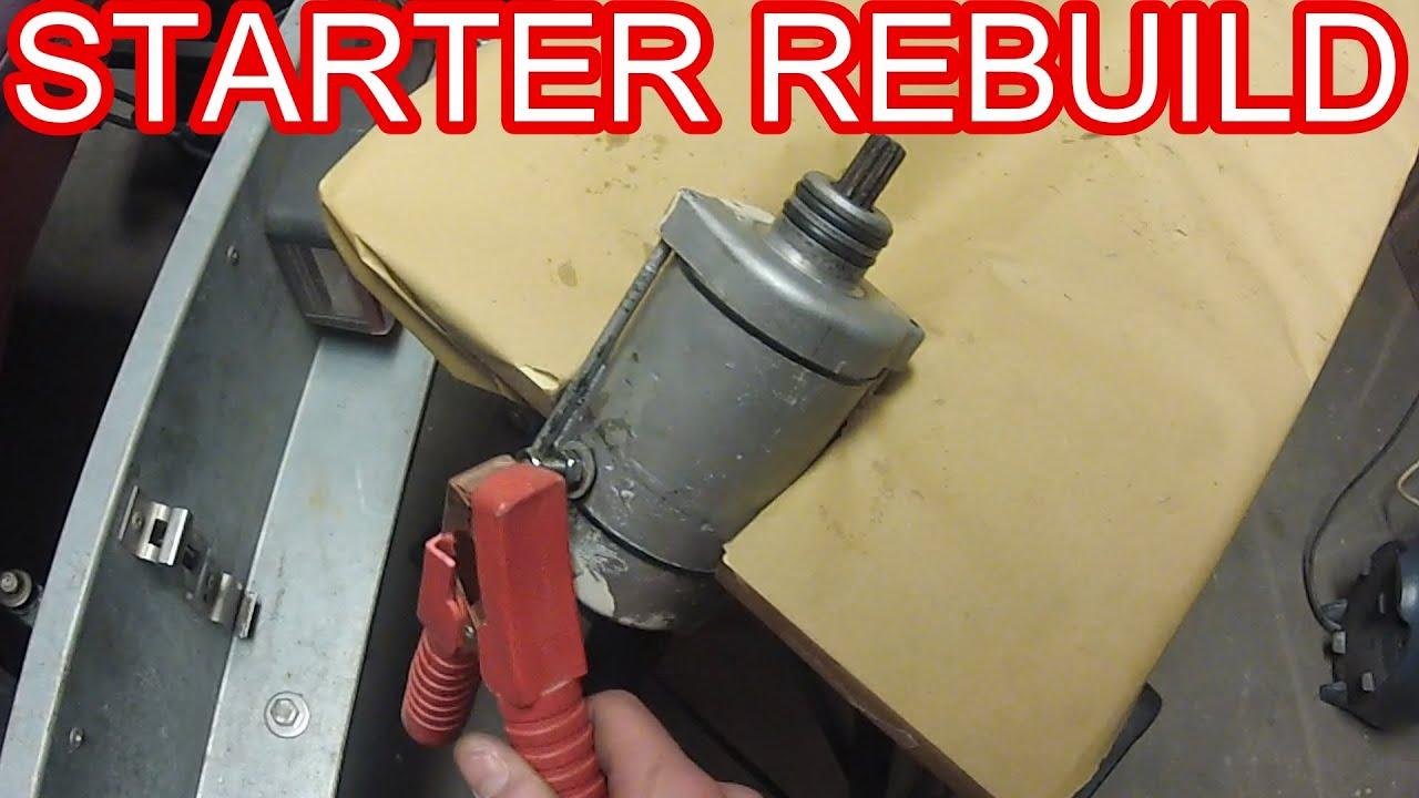 How To Starter Motor Rebuild Youtube
