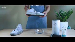 Как эффективно отстирать белые кроссовки, способы и средства, видео