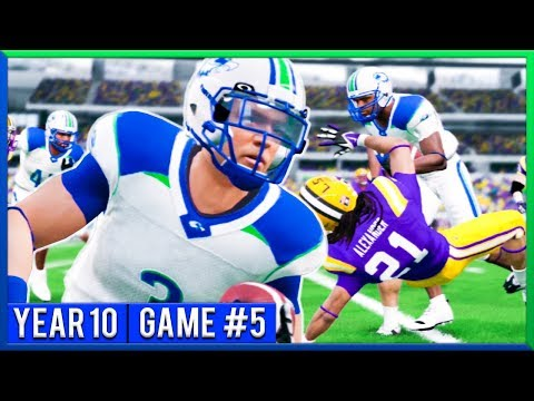 HUGE Neutral Site Game vs LSU! - NCAA Football 14 Dynasty Year 10 - Game 5 | Ep.174