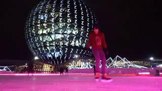 Трюки на коньках / Freestyle ice skating / каток Expo2017 ice rink
