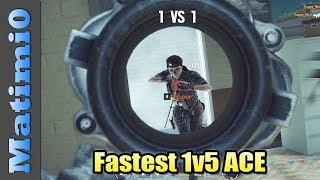 Fastest 1v5 ACE - Rainbow Six Siege