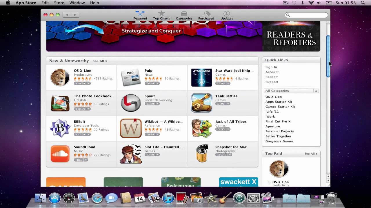 app store mac os x 10.5.8
