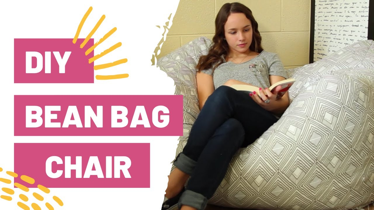 how to sew bean bag chair gray dining chairs target diy youtube