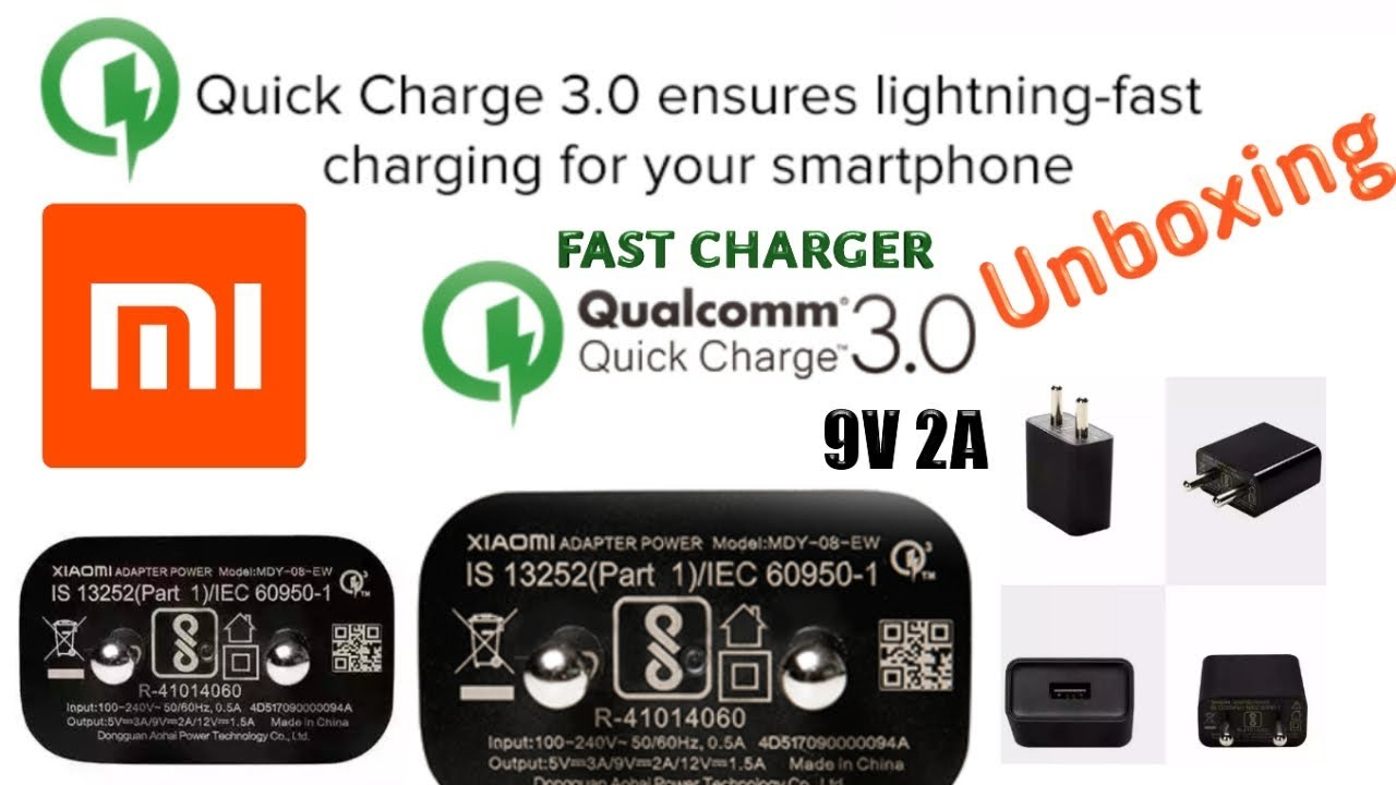 Xiaomi New Fast Charging 9v 2a Adaptor Unboxing India Standard Charger Latest Update