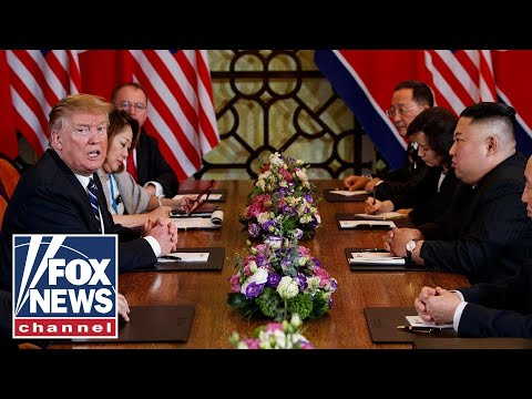 Trump speaks to press after one-on-one with Kim